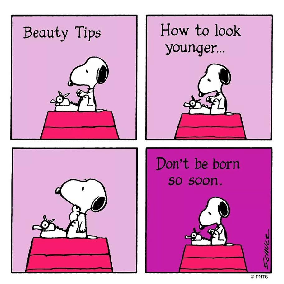 snoopy writing beauty tips